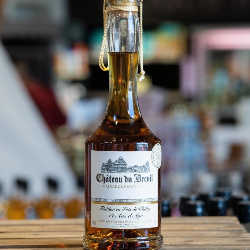 Calvados du breuil 14ans, AOC Pays d'Auge affiné en fûts de Whisky.